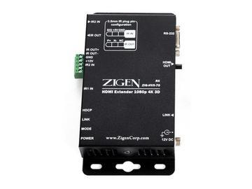 ZIG-HVX-70R HDMI/HDbaseT Extender (Receiver) over single CAT5a/6/7 - 70m by Zigen